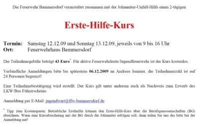 ff bammersdorf e.v., Einladung